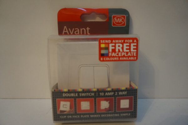 MK Avant 2 Gang 2 Way light switch
